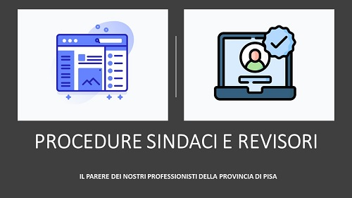 PROCEDURE SINDACI E REVISORI PISA